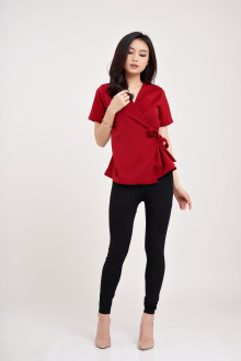 Villaine Top - Maroon