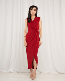 Corryna Dress - Maroon