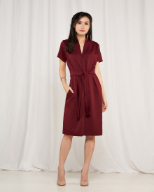 Madison Dress - Maroon
