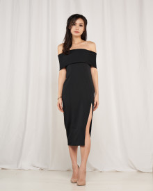 Milena Off Shoulder Dress - Black