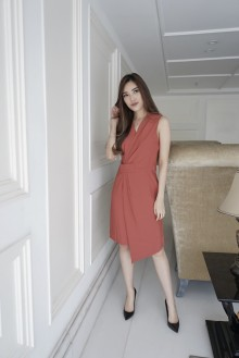 Aimee Dress - Brick