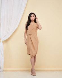 Aimee Dress - Taupe