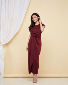Brigitta Dress - Maroon