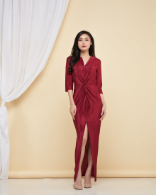 Penelope Dress - Maroon