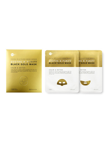 Skin Inc Facial In-A-Flash Soothe-N-Purify Black Gold Mask image