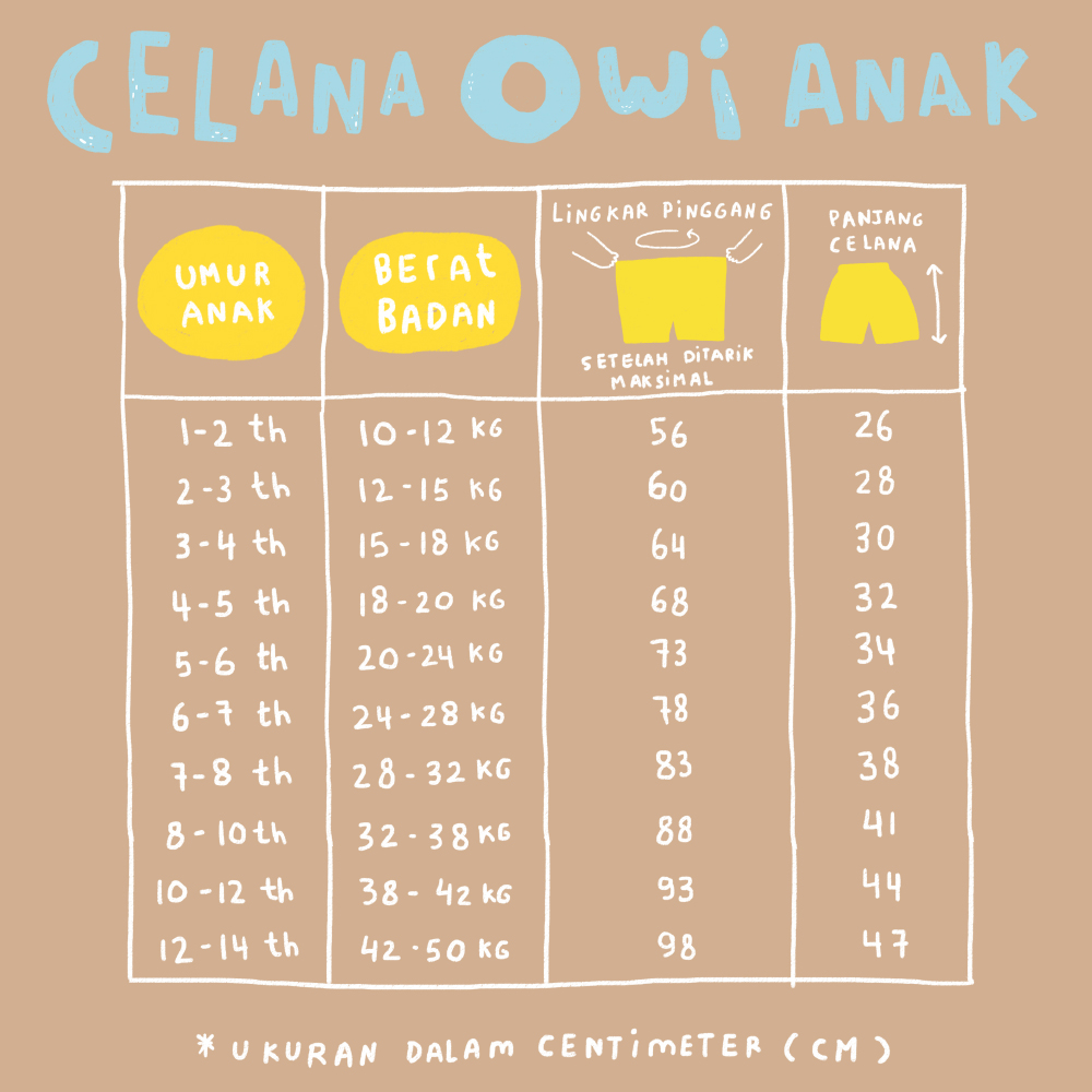 Owi Size Chart