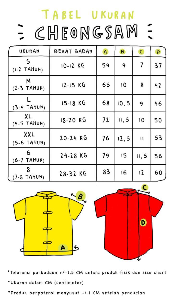 Size chart CH 2019