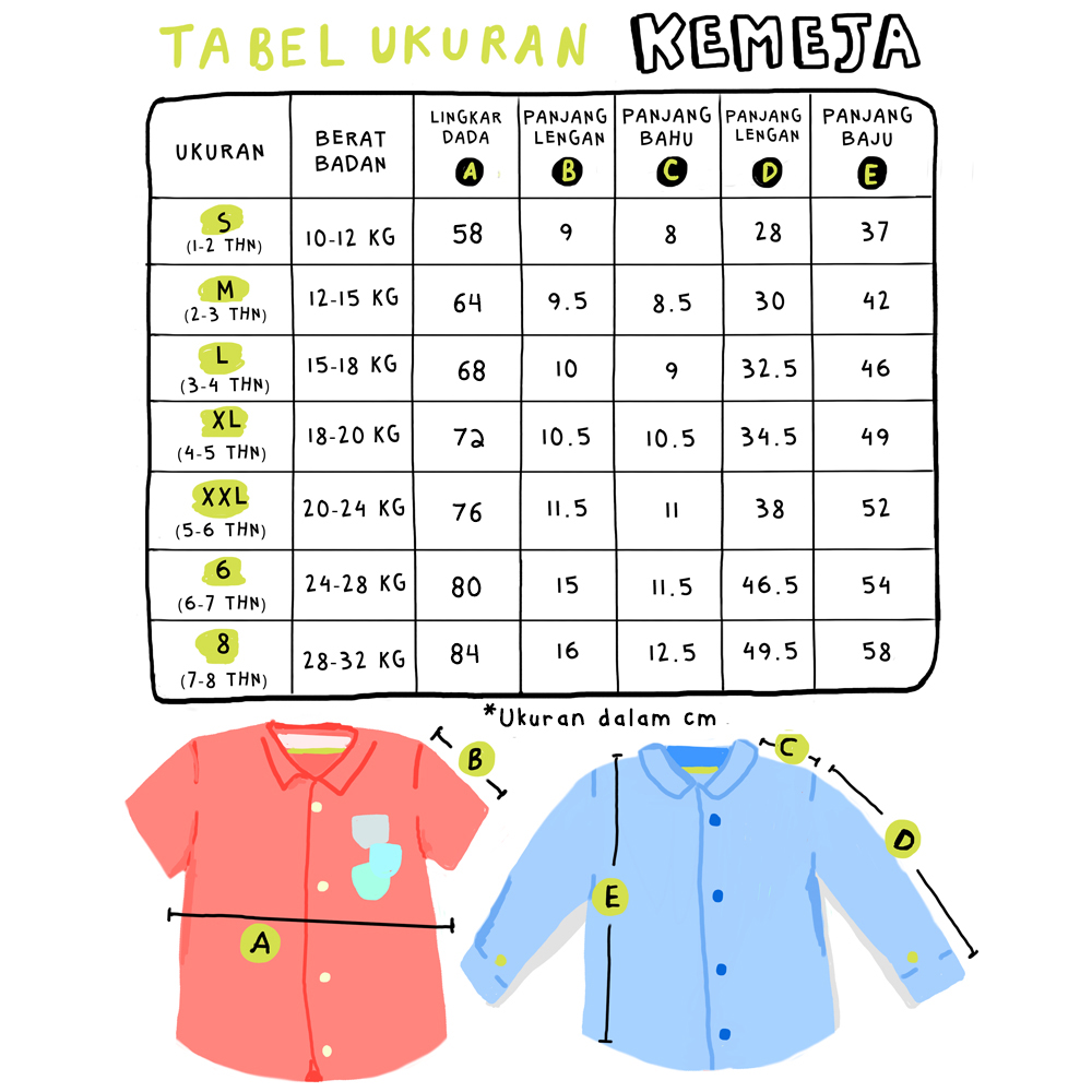Size Chart HEYBOY