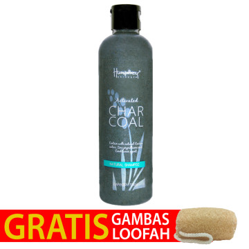 "Humphrey skin care Activated Charcoal ""Detox"" Natural Shampoo 250ml - Gratis Gambas Loofah"