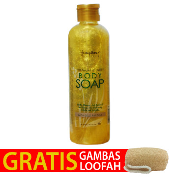 "Humphrey skin care Glowing Gold ""Anti Aging"" Body Wash 250ml - Gratis Gambas Loofah"