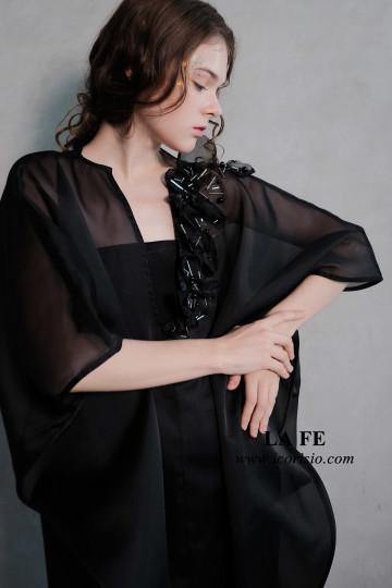 LA FE V-KAFTAN - BLACK image