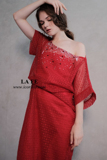 LA FE KAFTAN 01 - RED image