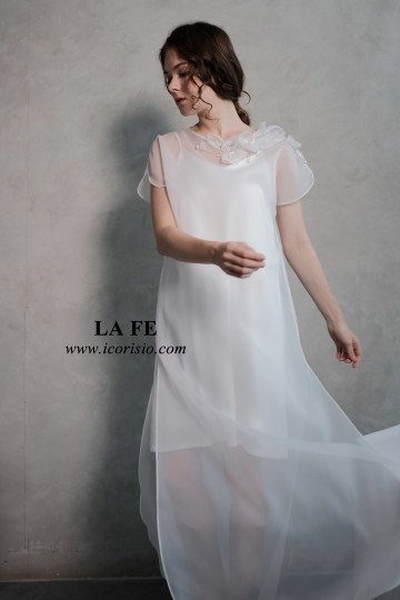 LA FE DRESS 02 - OFF WHITE image