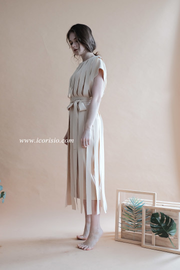 LIT DRESS - CREAM image
