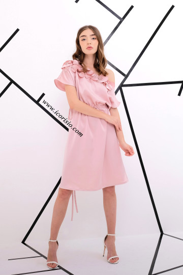 LA FE SWING DRESS - ROSE GOLD image