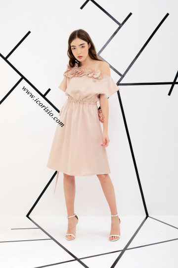 LA FE SWING DRESS - NUDE image