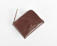 Tokyo Half Zip Wallet (Pull up Brown)