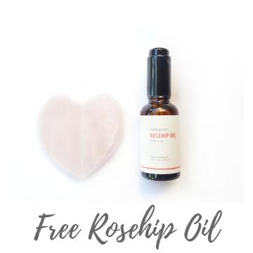 Promo Bundle Rose Quartz Gua Sha & Rosehip Oil