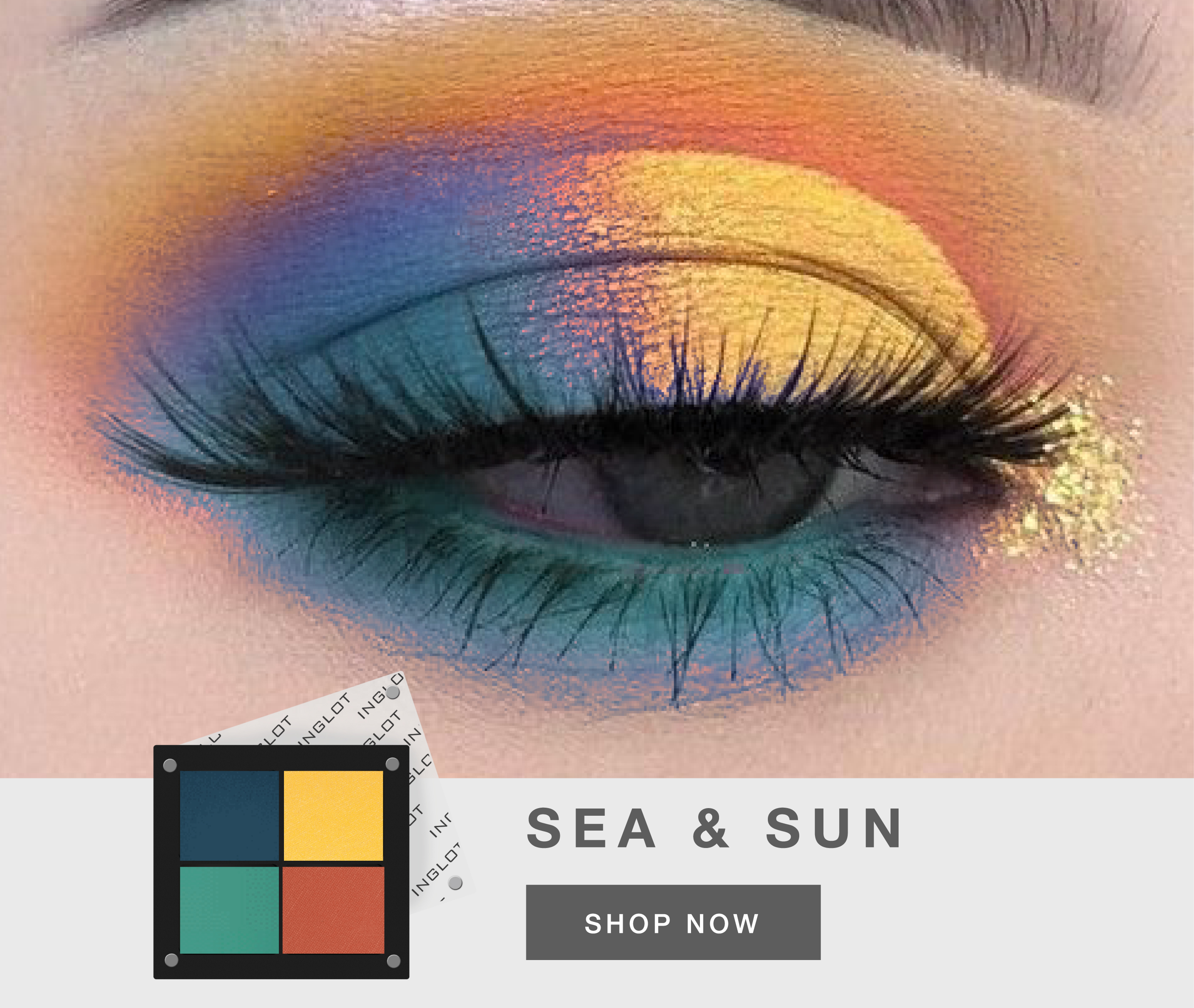 INGLOT SUMMER EYE SHADOW PALETTE SEA AND SUN
