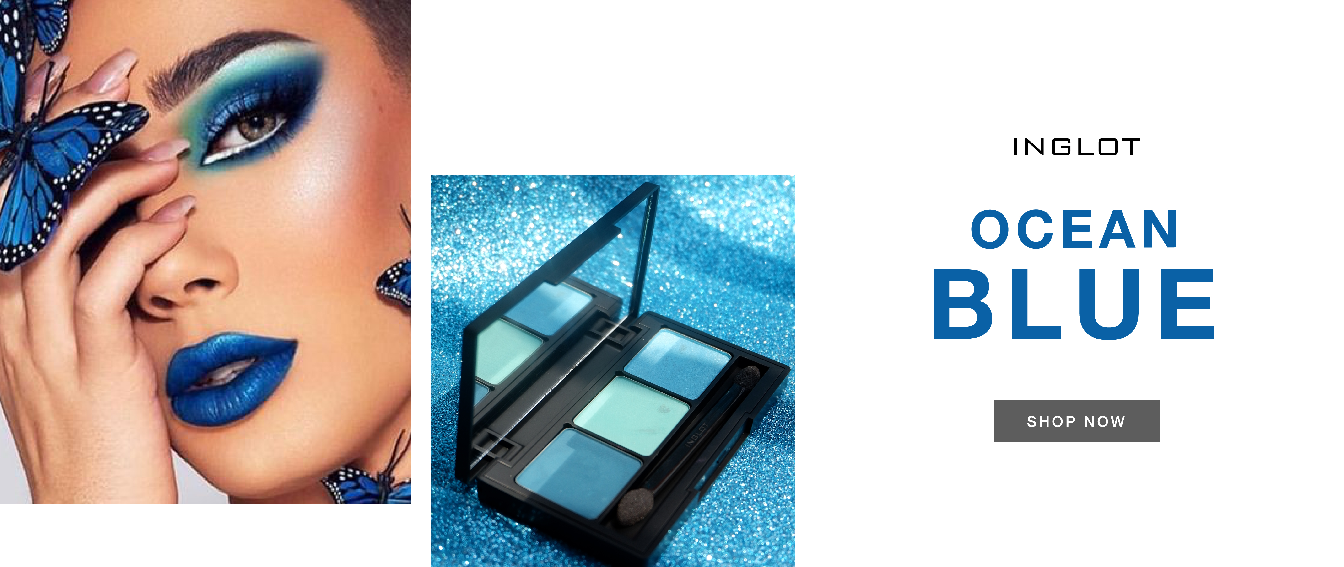 INGLOT SUMMER EYE SHADOW PALETTE OCEAN BLUE