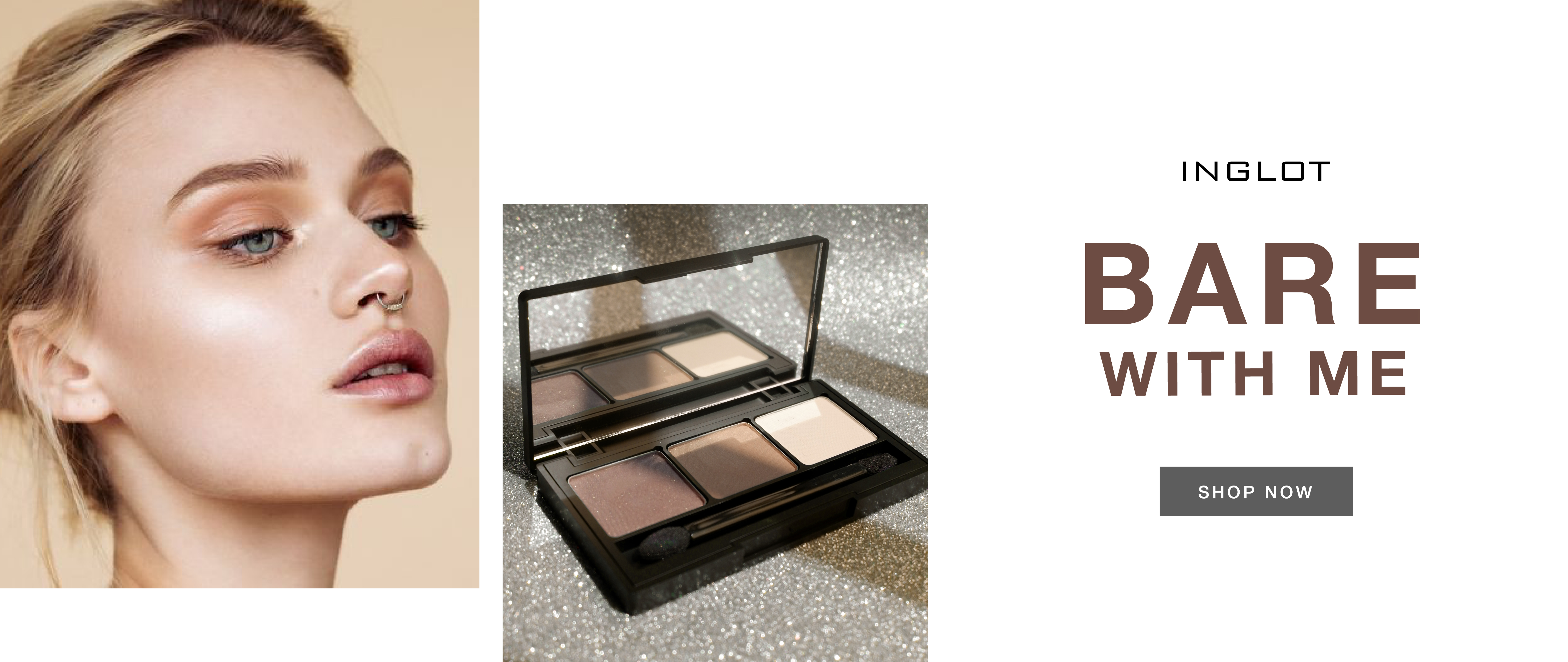 INGLOT SUMMER EYE SHADOW PALETTE BARE WITH ME