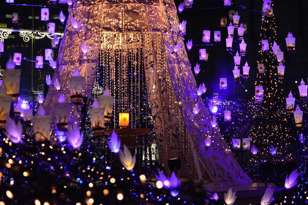 Iluminasi di Caretta Shiodome