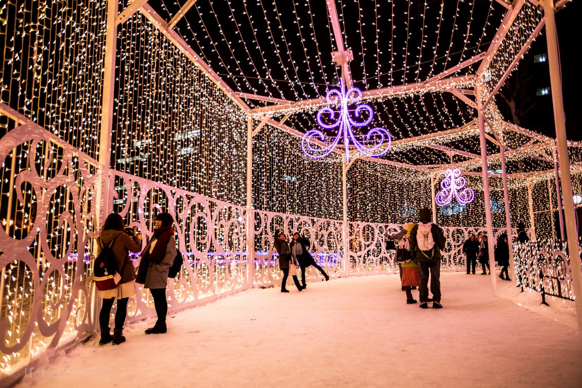 Iluminasi di Sapporo White Illumination