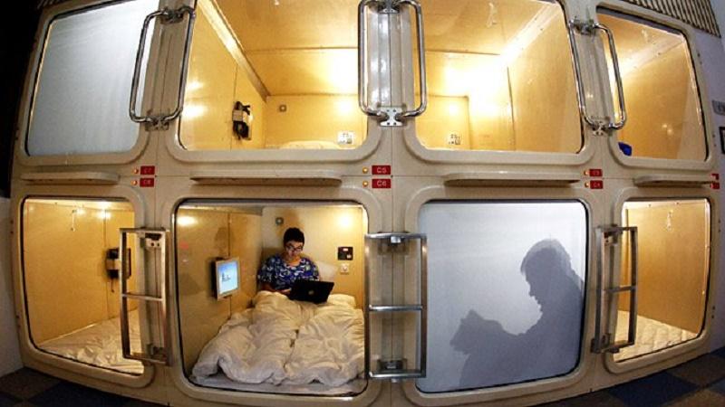 Kapsul Unik di Jepang! Sensasi Tidur Yang Kekinian