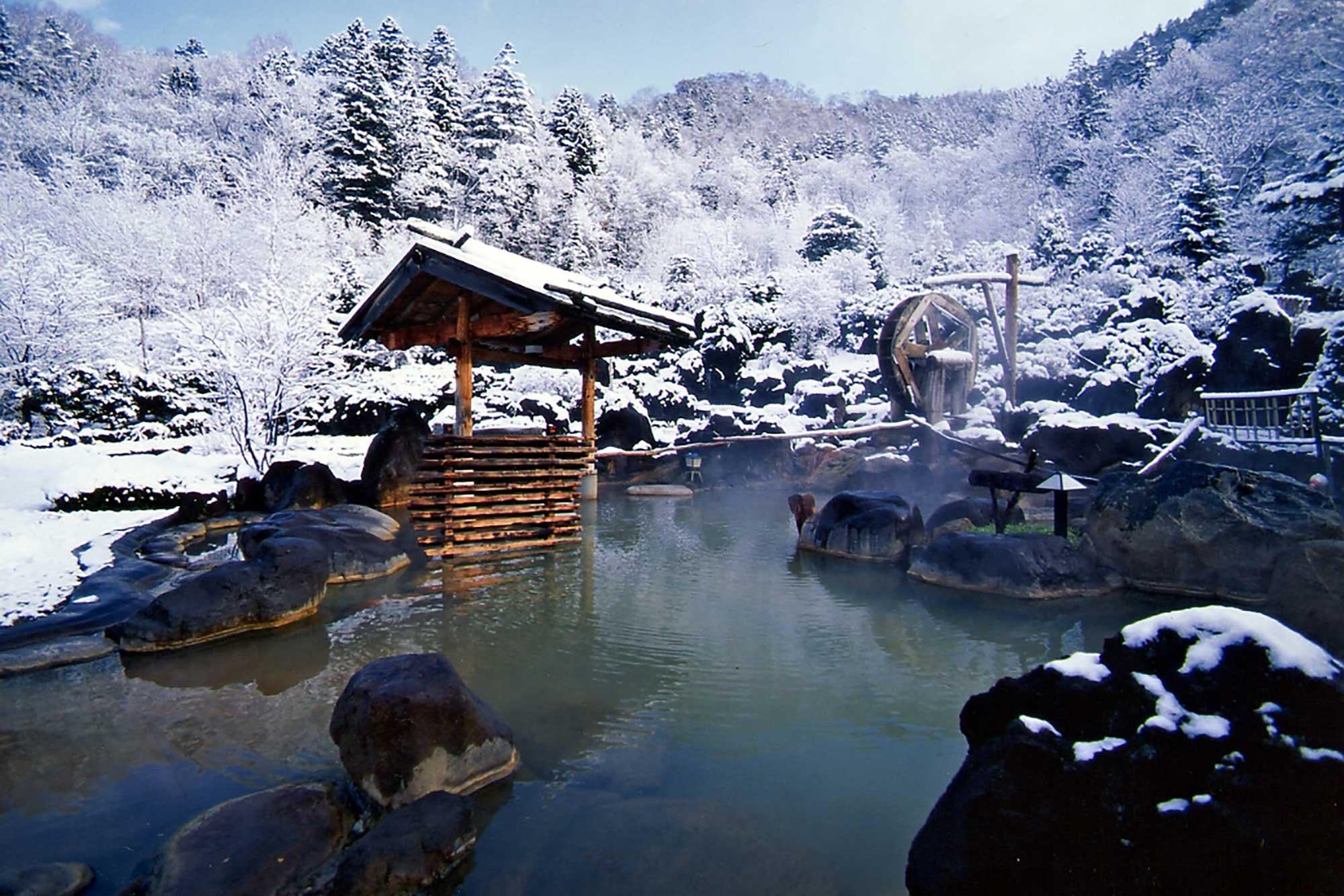 Hoheikyo Onsen in winter