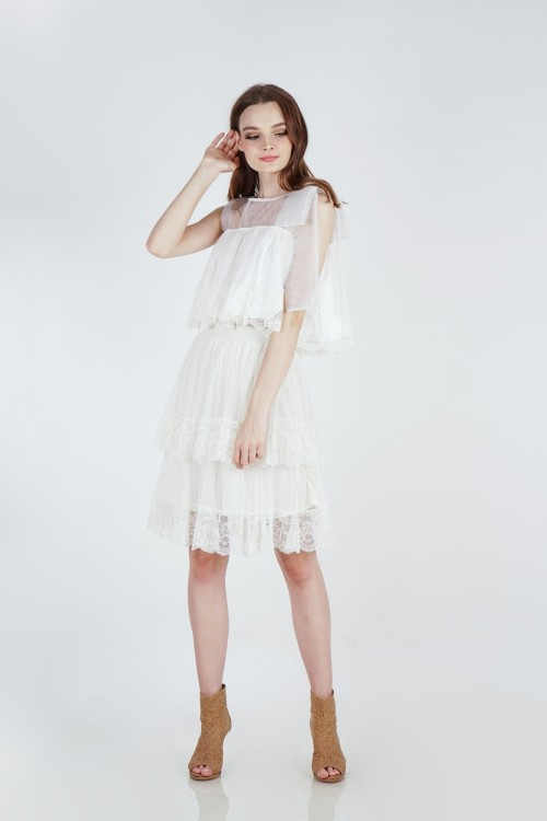 Tyri Lace Top (White)