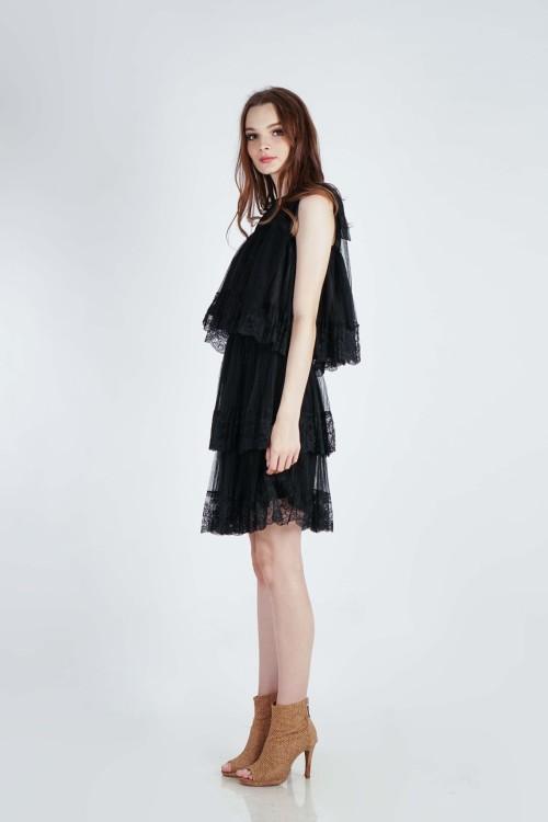 Tyri Lace Top (Black)