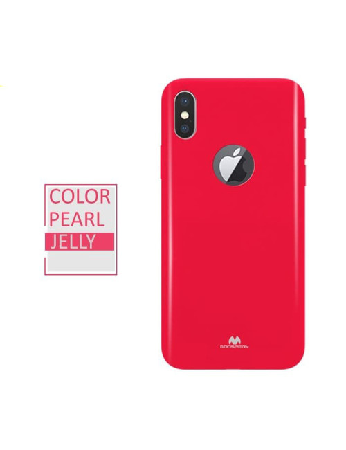 Goospery - Pearl Jelly Case for iPhone X / XS Hole - Black