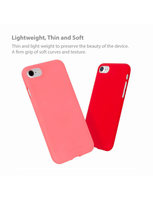 Goospery - Soft Feeling Jelly Case for iPhone X - Pink Sand