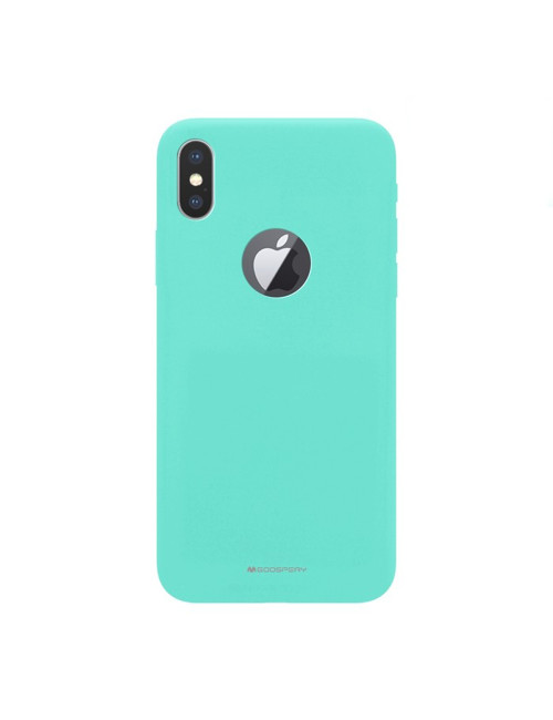 Goospery - Soft Feeling Jelly Case for iPhone XR hole - Red