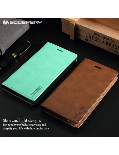 Goospery - Blue Moon Flip Case for iPhone XR - Brown