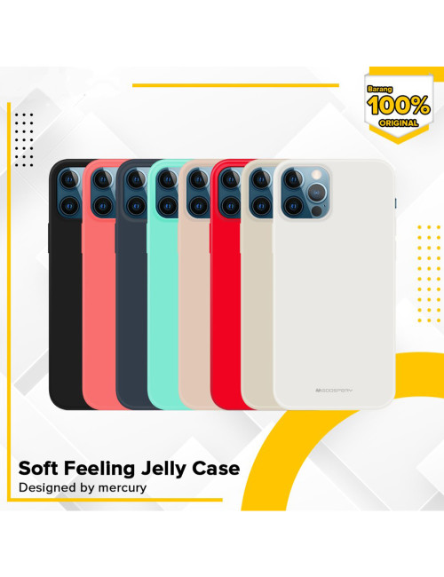 Goospery - Soft Feeling Jelly Case for iPhone 12 6.1 & iPhone 12 Pro 6.1 - Black
