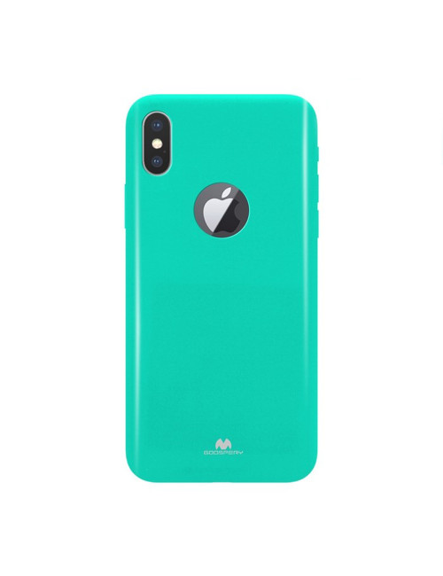 Goospery - Pearl Jelly Case for iPhone XS Max Hole - Blue