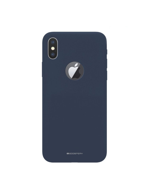 Goospery - Soft Feeling Jelly Case for iPhone XS Max Hole - Black