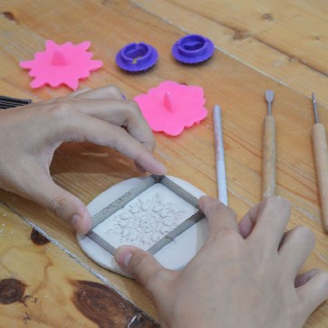 22 June 2019 | Ceramic Jewellery Making with Emboss Technique