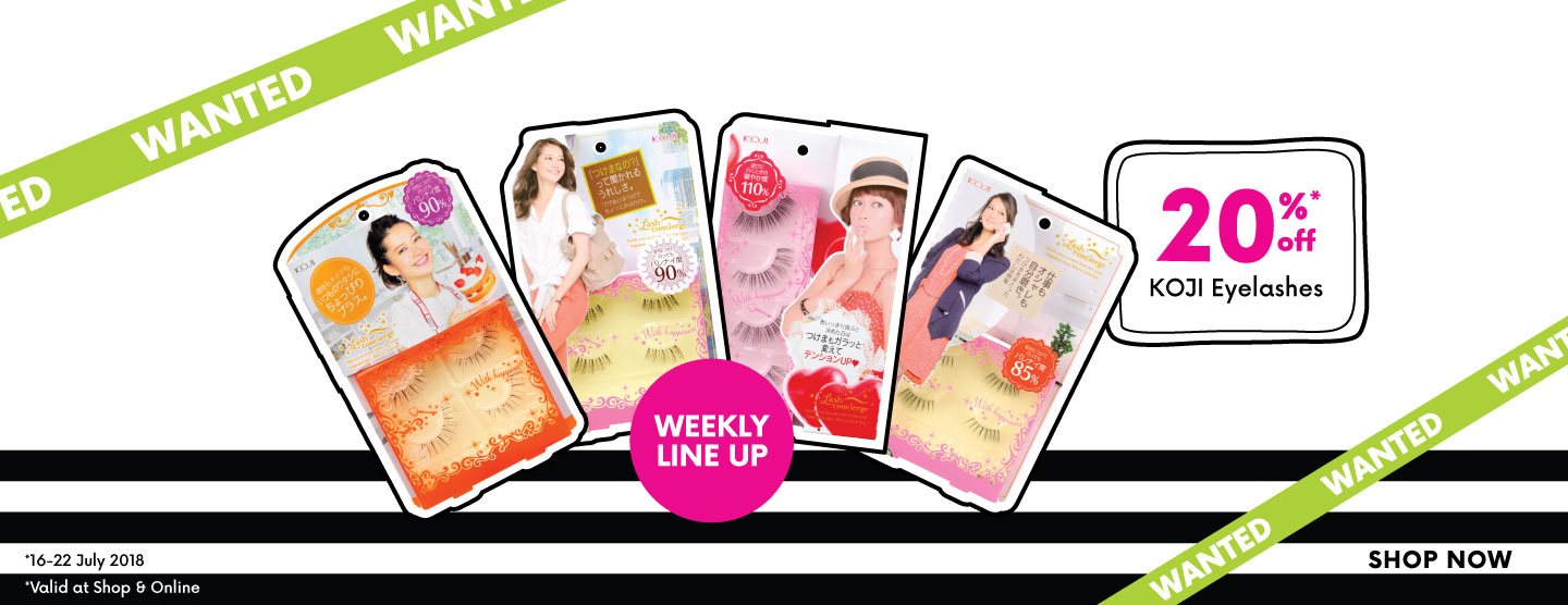 Weekly line up: KOJI Lash concierge eyelashes 20% OFF