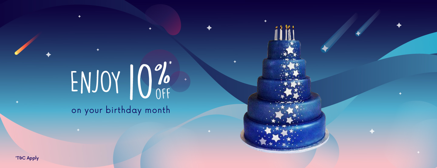 10% OFF on your birthday