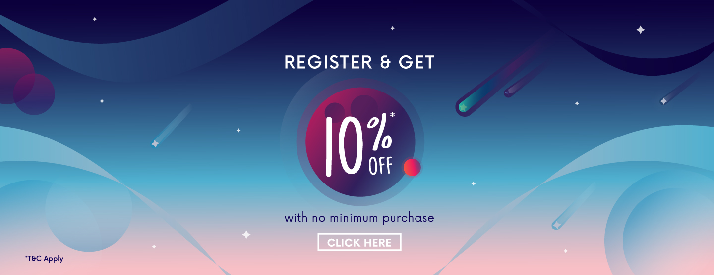 Register and get 10% OFF