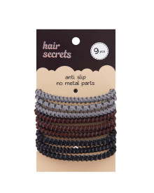 9 pcs Anti Slip Hair Tie