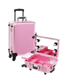 Travelling Makeup Case in Pink Diamond