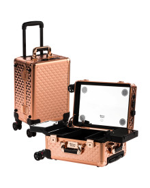 Rose Gold Diamond M Case With Flat LED & Stereo