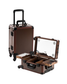 Brown Satin M Case with Flat LED & Stereo