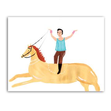 Man Rides Horse image