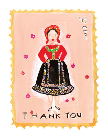 Vintage Stamp - Thank You image