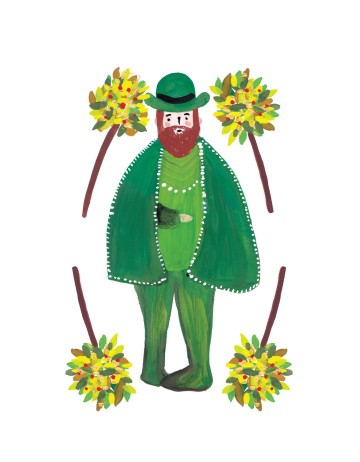 Best Wishes For You (Green Man) image