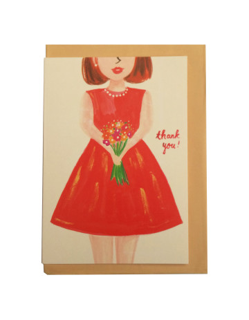 Flower Girl Thank You Card image